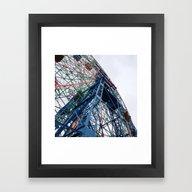 Framed Art Print featuring Wonder Wheel by KatieKatherine