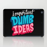 IMPORTANT DUMB IDEAS iPad Case