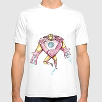 Iron Mens Fitted Tee White SMALL