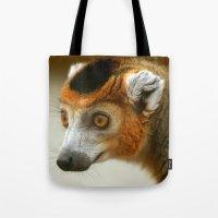 Male Crowned Lemur Tote Bag
