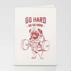 GO HARD OR GO HOME Stationery Cards
