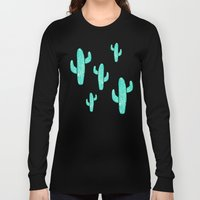 Linocut Cacti Candy Long Sleeve T-shirt