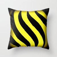 Yellow Zebra Throw Pillow