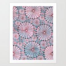 Abstract Floral Circles 3 Art Print