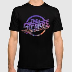 The Strokes Logo New York Night Mens Fitted Tee Black SMALL