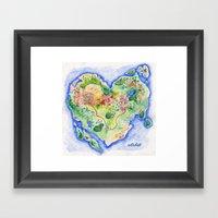 Island Of Love Framed Art Print
