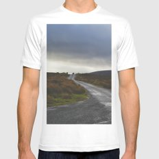 Mountain Road Mens Fitted Tee White SMALL
