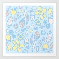 Bunnies And Blooms Art Print
