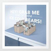 Ice Cold Bears Art Print