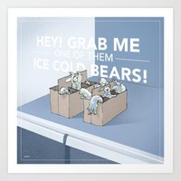 Ice Cold Bears Art Print