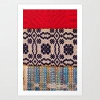 Fabric Art Art Print