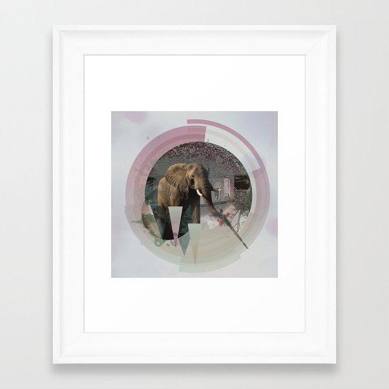 ELPH // DOWNHILL Framed Art Print