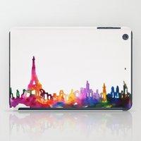 Paris In Watercolor iPad Case