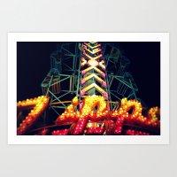Carnival Lights, The Zip… Art Print