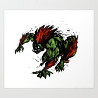 Blanka Rush! - Street Fighter Art Print