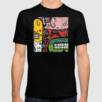 the UNCSCRUPULOUS NONSENSICAL IRREPRESSIBLY INFINITESIMAL INFESTATION of GREED Mens Fitted Tee Black SMALL