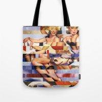 Glitch Pin-Up Redux: Taylor & Tiffany Tote Bag