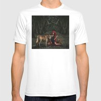 Red Riding Hood Mens Fitted Tee White SMALL