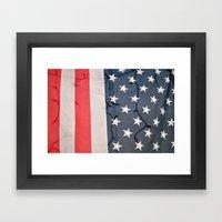Flag Lights Framed Art Print