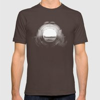 curl. Mens Fitted Tee Brown SMALL