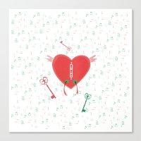 Keys Of Heart Canvas Print