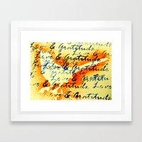 Love and Gratitude Framed Art Print