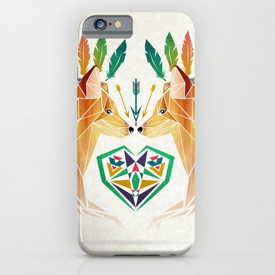foxes in love iPhone & iPod Case