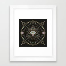 Evil Eye Mandala – Black Framed Art Print