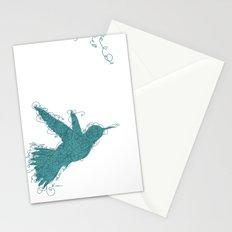 Bird Fly No. 1 (Aqua) Stationery Cards