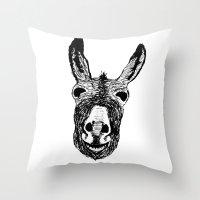 Wonky Donkey  Throw Pillow