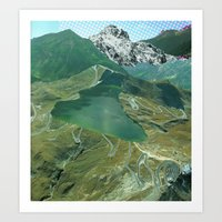 Experiment am Berg 11 Art Print