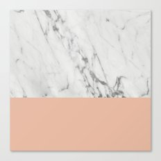 Marble and Coral Canvas Print