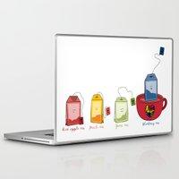 tea Laptop & iPad Skins featuring tea by Emma Harckham