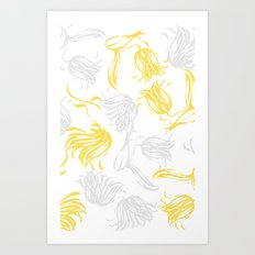 bright breezy tulips Art Print
