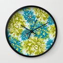 Blue Dahling Wall Clock