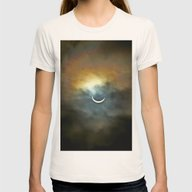 Solar Eclipse 2 Womens Fitted Tee Natural SMALL