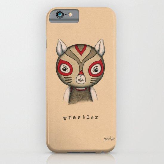 Cat Wrestler iPhone & iPod Case