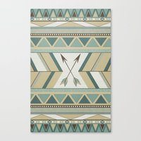 Aztec Pattern Arrows  Canvas Print