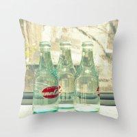 Rainy Day ~ Vintage Soda… Throw Pillow