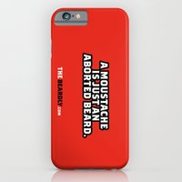 iPhone & iPod Case featuring A MOUSTACHE IS JUST AN ABORTED BEARD. by The Beardly