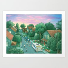 Grimloch Lane, Sunset Art Print