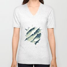 Explosions in the water Unisex V-Neck