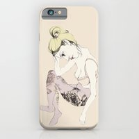 iPhone & iPod Case featuring With stockings of flowers by Cecilia Sánchez