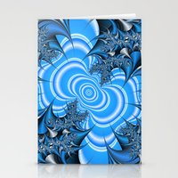 Blue And Silver Thorns F… Stationery Cards