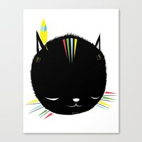 MIGHTY TIGARRR, BLACK KITTEN 묘 Canvas Print
