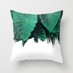 Painting on Jungle Throw Pillow