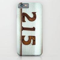 iPhone Cases featuring 215 by CrookedHeart