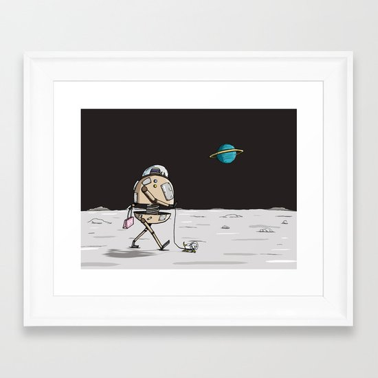 On the moon 1 Framed Art Print