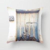 Bird and Bicycle. Throw Pillow