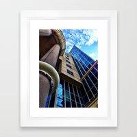 UFO Blue Building  Framed Art Print